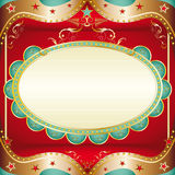 Baroque square frame Stock Photography