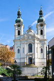 Baroque St. Mary Magdalene church, spa town Karlovy Vary, Czech Stock Photo