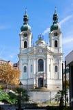 Baroque St. Mary Magdalene church, spa town Karlovy Vary, Czech Stock Photo