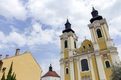 St. Stephen Cathedral in Szekesfehervar, Hungary. The baroque St. Stephen Cathedral in Szekesfehervar, Hungary Royalty Free Stock Photos