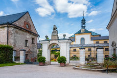 Baroque state castle chateau front gate, Kuks Royalty Free Stock Image