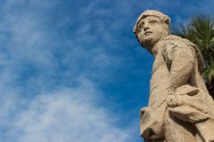 The baroque statue Stock Photography