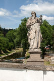 Baroque statue of St. Joachim on a bridge in Namest nad Oslavou Stock Photos