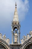 Baroque statue on St. Mark Cathedral in Venice Royalty Free Stock Images