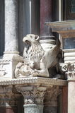 Baroque statue on St. Mark Cathedral in Venice Stock Images