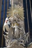 Baroque statue from vienna cathedral Royalty Free Stock Image