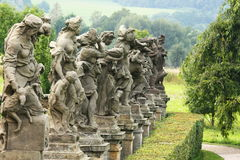 Baroque statues. By Matthias Braun in the castle Kuks Royalty Free Stock Photography