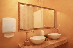 Baroque style bathroom interior Stock Image