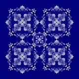 Baroque style blue texture/background Stock Photos