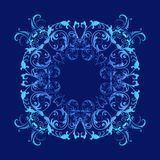 Baroque style blue texture royalty free stock photos