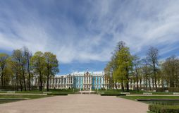 Baroque-style Catherine Palace in Pushkin, St. Petersburg royalty free stock photography