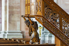 Baroque style church interior view Stock Photography