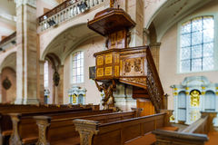 Baroque style church interior view Royalty Free Stock Image