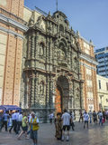 Baroque Style Church in Lima Peru Royalty Free Stock Photography