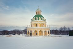 Baroque style church of the Nativity of the Virgin in Podmoklovo Stock Photography