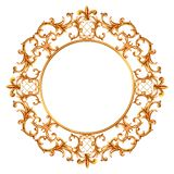 Baroque style elements. Watercolor hand drawn vintage engraving floral scroll filigree design frame