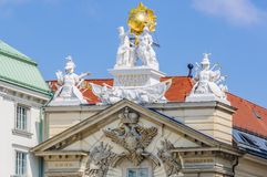 Baroque style façade in Vienna, Austria. Baroque style façade in the city of Vienna, Austria royalty free stock photography
