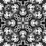 Baroque style floral wallpaper. Seamless vector pattern. Square tile. Stock Photos