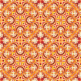 Baroque style floral wallpaper. Seamless vector pattern. Square tile. Stock Photo