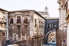 Baroque style houses in Catania city, Sicily, Royalty Free Stock Photos