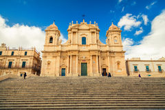 Baroque style Noto Cathedral Stock Images