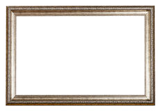 Baroque style sliver wooden picture frame Royalty Free Stock Image