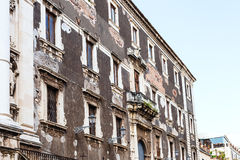 Baroque style urban house in Catania city Stock Photography