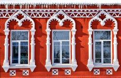 Baroque style  windows Stock Photography