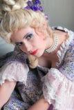 Baroque style woman Stock Photos