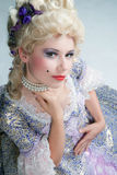Baroque style woman Royalty Free Stock Photo
