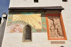 Baroque sundial. Salzburg castle Royalty Free Stock Image