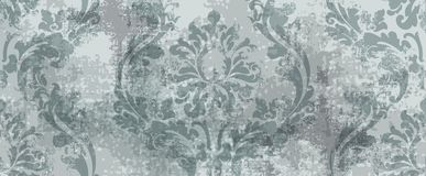 Baroque texture pattern Vector. Floral ornament decoration. Victorian engraved retro design. Vintage fabric decors. Luxury fabrics. Baroque texture pattern royalty free illustration