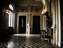 A Baroque 18th Century Room. With vintage style flooring Royalty Free Stock Photo