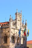 Baroque tower castle of sintra Stock Images