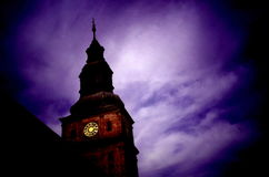 Baroque tower of the church. In monastery Plasy, Czech Republic royalty free stock images