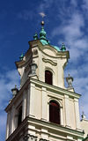 Baroque tower of the old time catholic church Stock Image