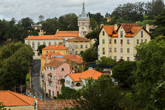 Baroque tower of Town Hall of Sintra, Portugal Stock Image