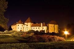 Baroque town of Varazdin old citadel. Night view, Croatia Stock Images