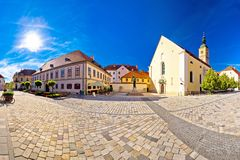 Baroque town of Varazdin square panoramic view Stock Photography