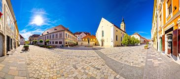 Baroque town of Varazdin square panoramic view Stock Images