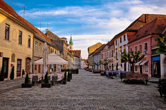 Baroque town of Varazdin street view Stock Photography