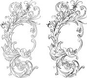 Baroque Two Styles: Traditional and Calligraphy Royalty Free Stock Photo