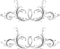 Baroque Two Styles: Traditional and Calligraphy. Stock Images
