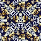 Baroque vector seamless pattern. Vintage floral background wallp Royalty Free Stock Images