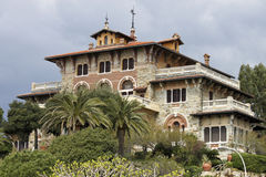 Baroque Villa. A beautiful baroque villa in italian riviera Royalty Free Stock Image