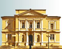 Baroque villa Royalty Free Stock Images