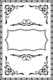 Baroque vintage frame Royalty Free Stock Image