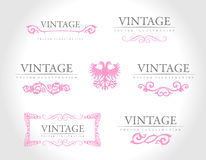 Baroque vintage royal design elements Stock Photo