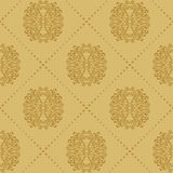 Baroque vintage seamless background Royalty Free Stock Photography