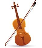 Baroque Violin. Vector illustration of a baroque violin Stock Images